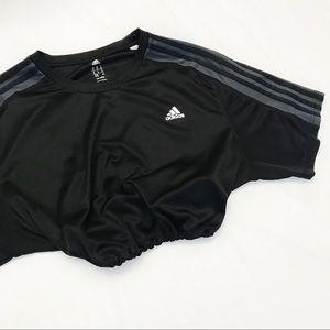 Black adidas climacool drawstring crop
